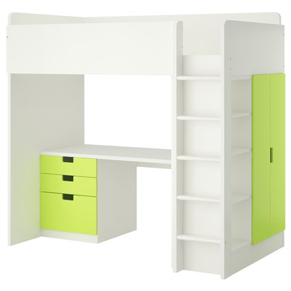 STUVA loft bed with 3 drawers and 2 doors