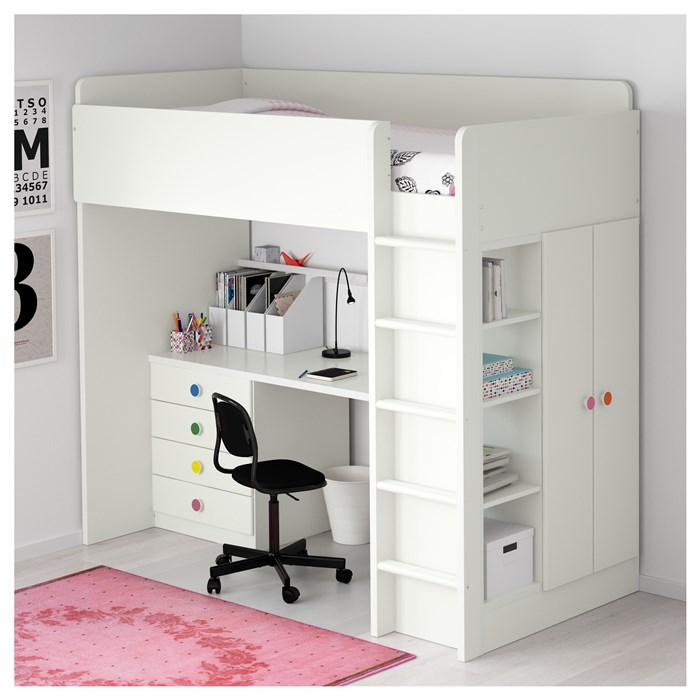White drawers and doors