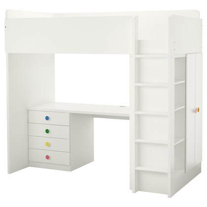 STUVA and FOLJA loft bed with 4 drawers/ 2 doors