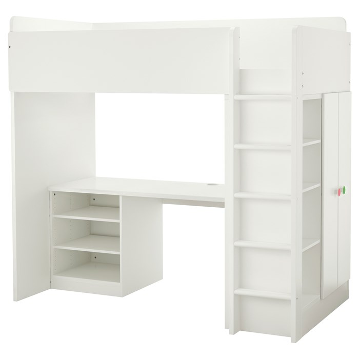 White shelves and doors