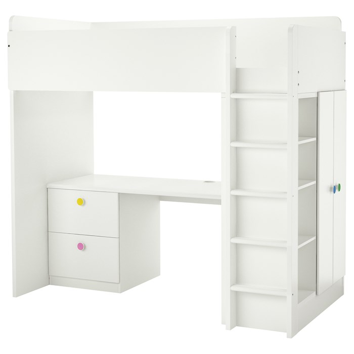 White drawers and doors