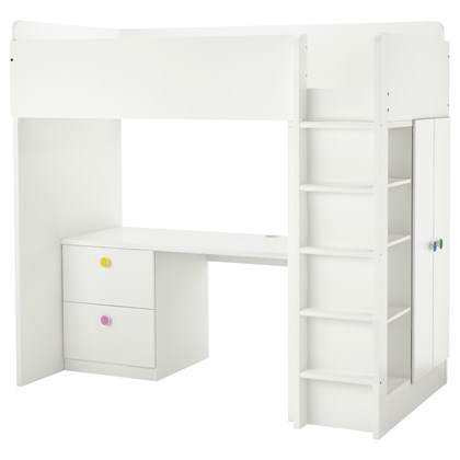 STUVA and FOLJA loft bed with 2 drawers and 2 doors