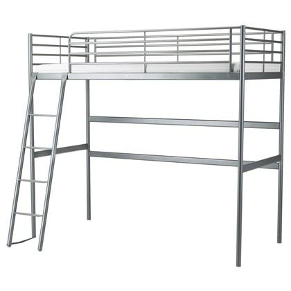 SVARTA loft bed frame