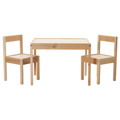 LATT children's table and 2 chairs