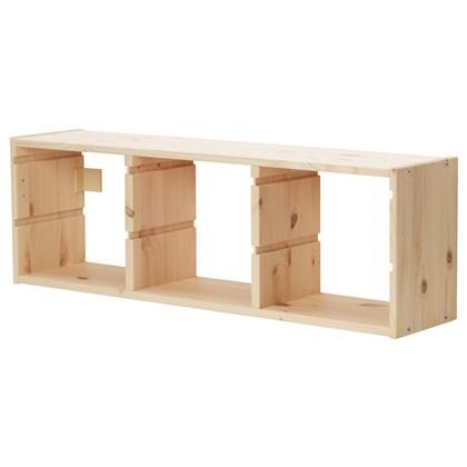 TROFAST frame wall storage, pine