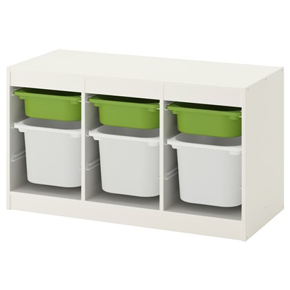 TROFAST storage combination with 6 boxes