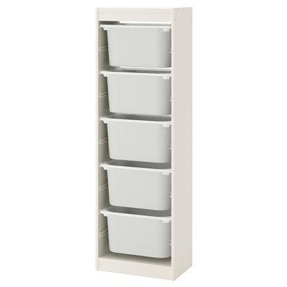 TROFAST storage combination with 5 boxes