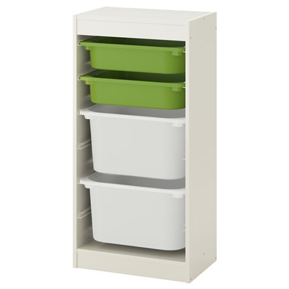 TROFAST storage combination with 4 boxes
