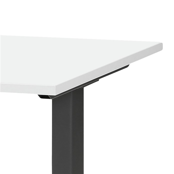 Adjustable height, tabletop in white, frame in black