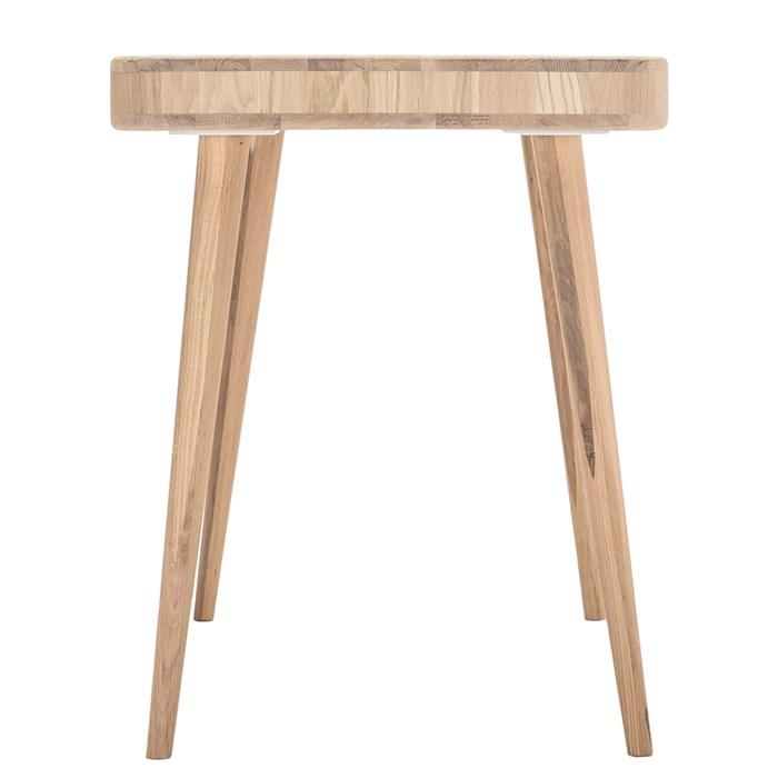 Tabletop in oak brown, 2 drawers, solid oak legs