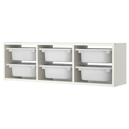 TROFAST wall storage combination with boxes