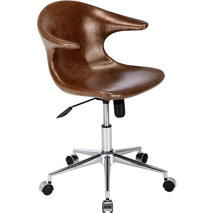 KENNY swivel chair in leather