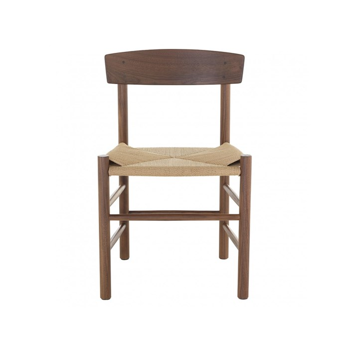 Solid Walnut with natural cord seat