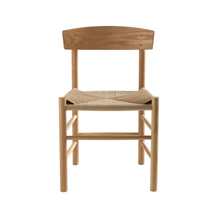 Solid Oak with natural cord seat