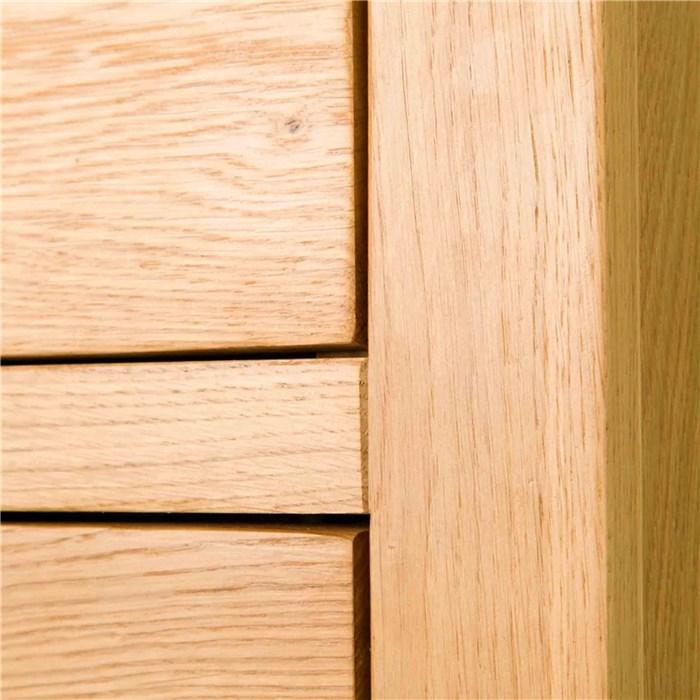 Solid Oak, natural brown color