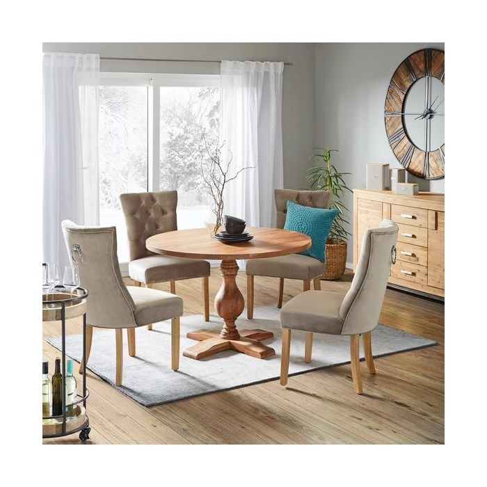 Solid wood legs, gray brown color