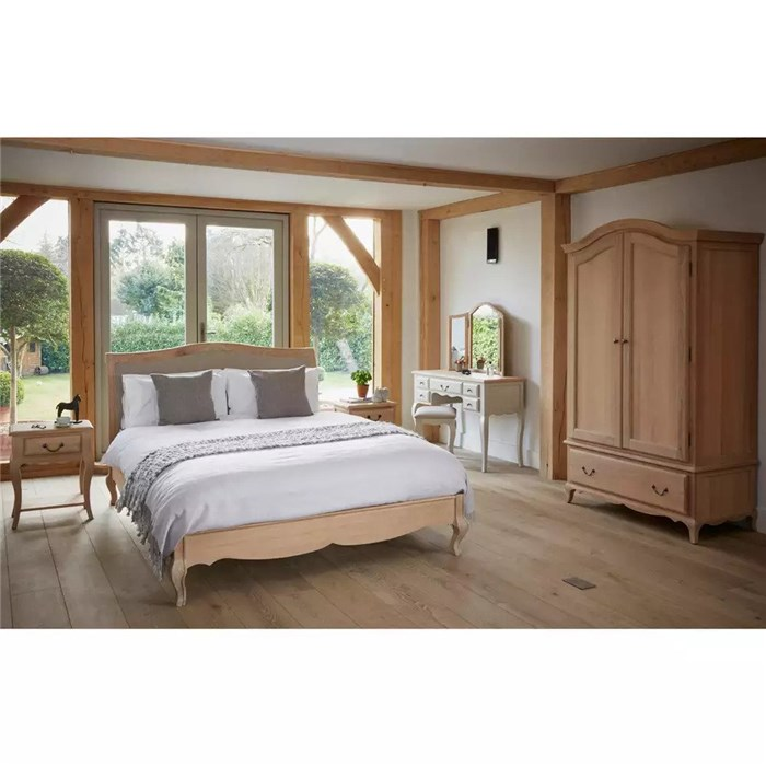 Solid Oak, White washed