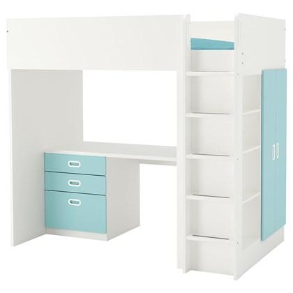 STUVA / FRITIDS Loft bed with 3 drawers/2 doors
