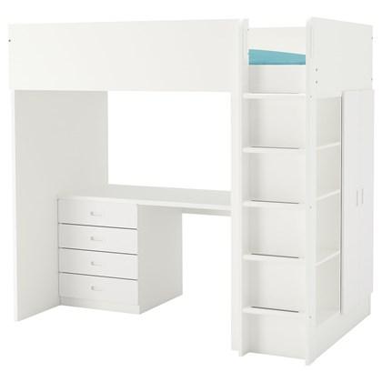 STUVA / FRITIDS Loft bed with 4 drawers/2 doors