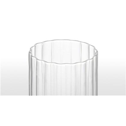 IVDEL set of 4 ribbed glass high balls