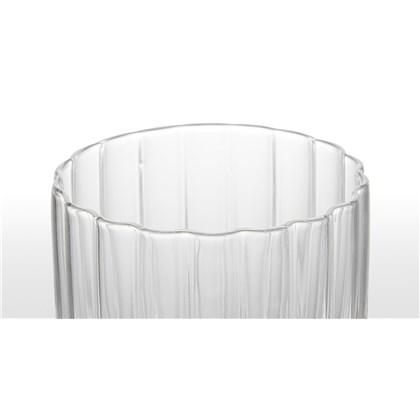 IVDEL set of 4 ribbed glass tumblers