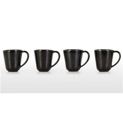 KRISHA set of 4 reactive glaze mugs