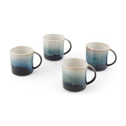 NIVA reactive glaze set of 4 mugs