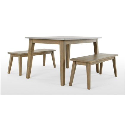 FAWN Dining Table and Bench Set