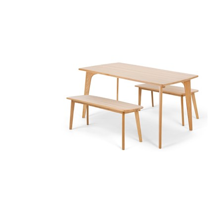 FJORD Dining Table and Bench Set