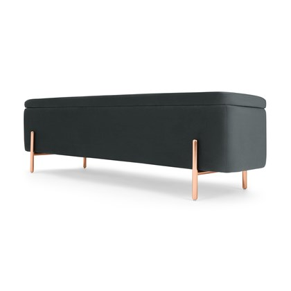 ASARE 150cm Upholstered Ottoman Storage Bench