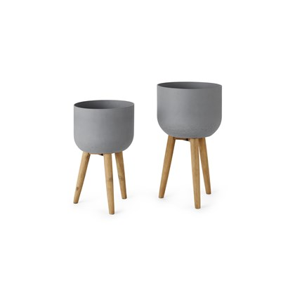 ALLO Large Poly Resin Set of 2 Plant Pots
