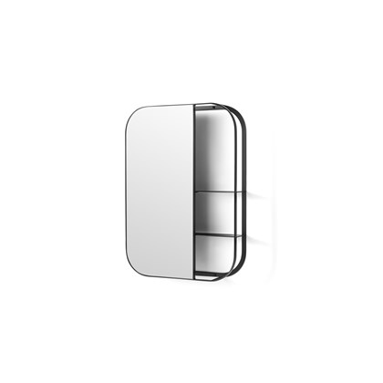 Stria Wall Mirror with Shelves